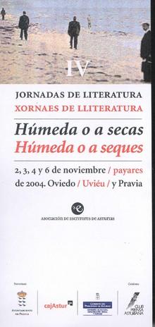 CARTEL ANUNCIADOR IV JORNDAS DE LITERATURA