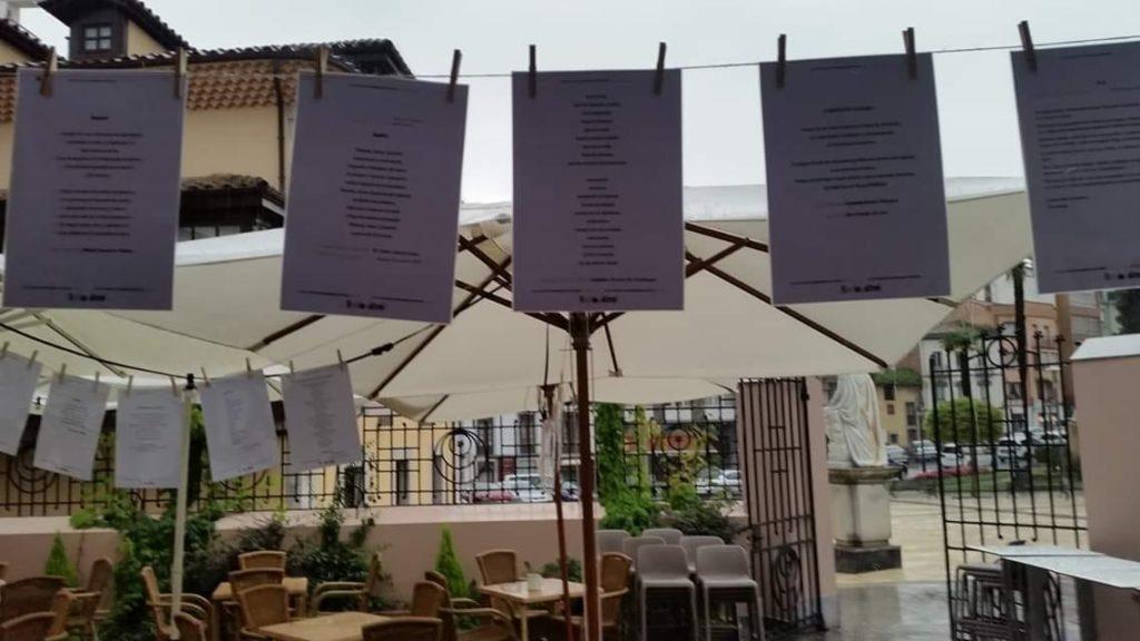 Tendal de poesía en el hotel Rey Silo
