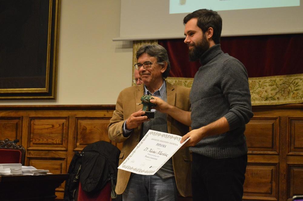 Xaime Martínez recibe el Premio de Poesía en asturiano